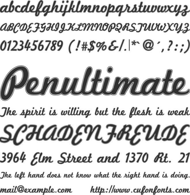 Marketing Script Inline font preview