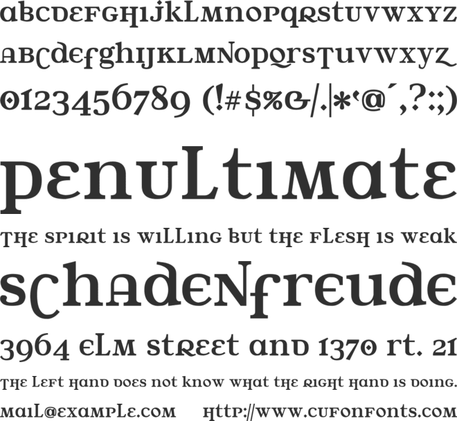 Water Street font preview