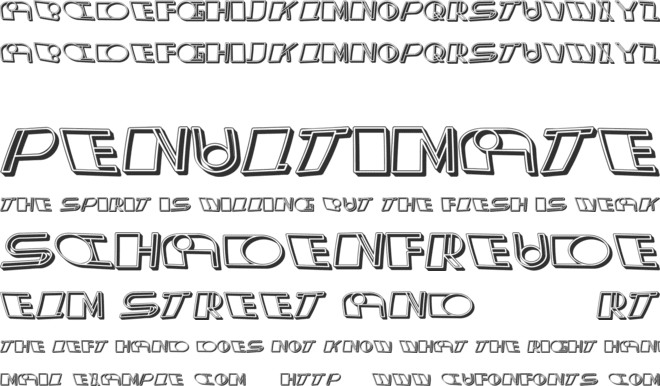 Distorted font preview