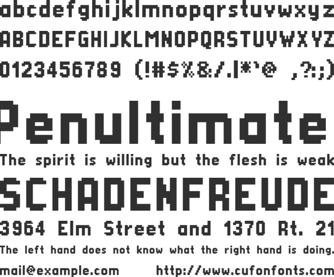 Silom font preview