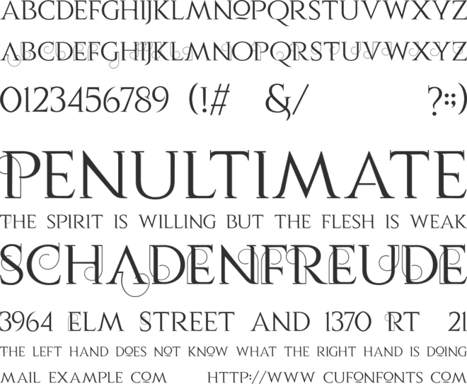 Vauca Personal Use font preview