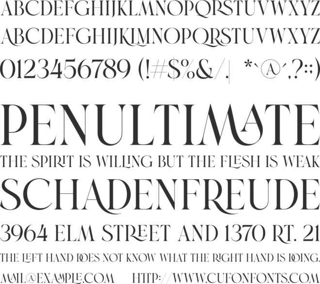 Brand font preview