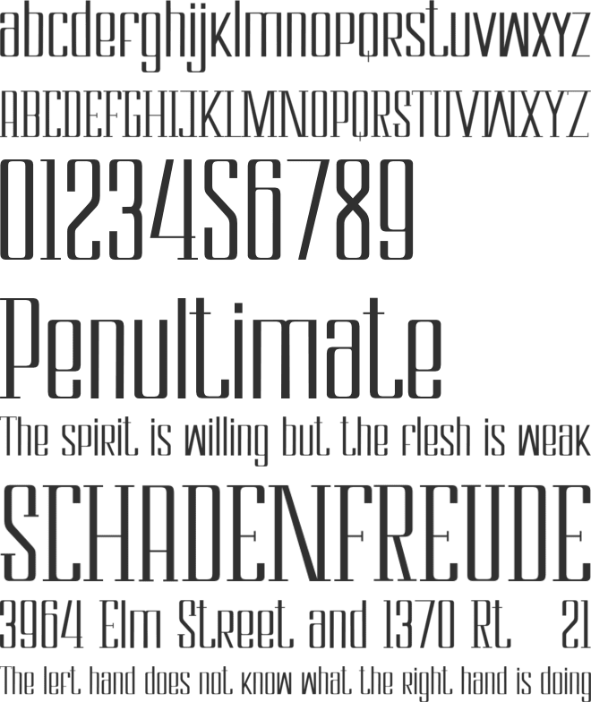 Cloudwick font preview