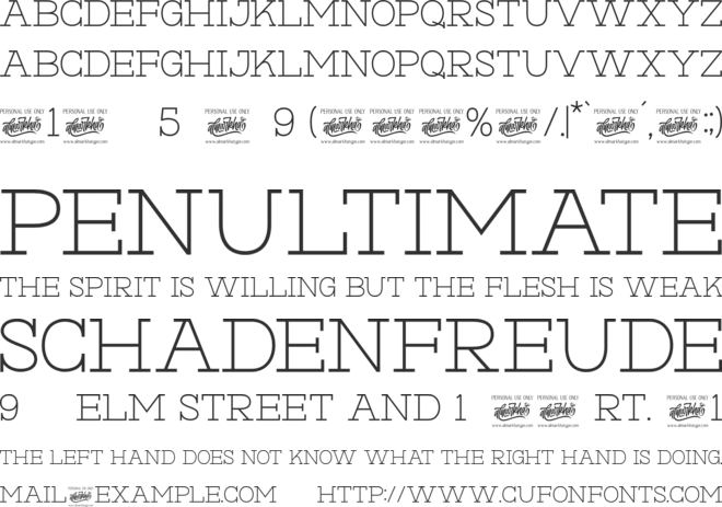 Hexore font preview