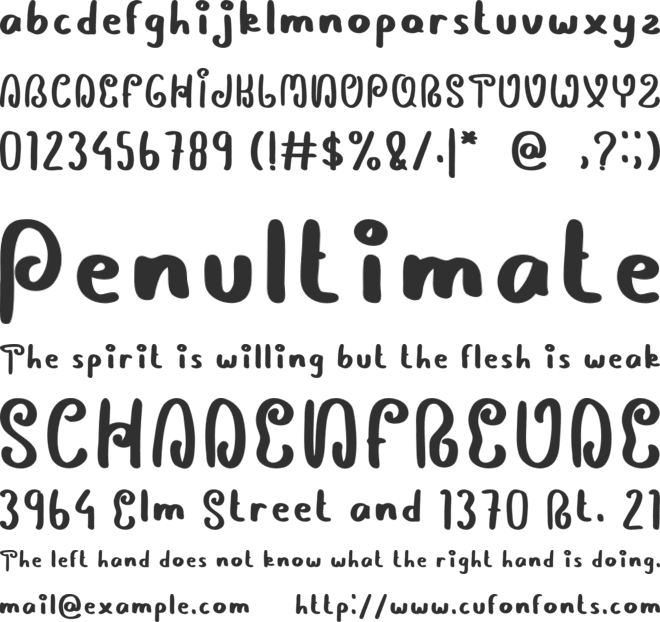 Diltoon font preview