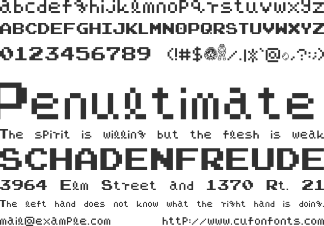 Narpassword00000 font preview