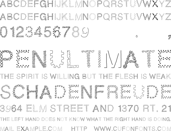 PWPatchwork font preview
