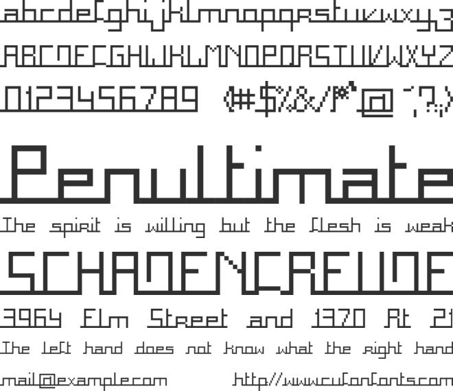 Square font preview
