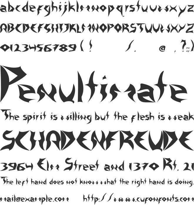 Tattoo Heavy font preview