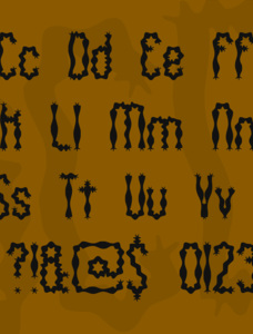 Wiggly Squiggly (BRK) Font