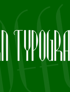 Modern Typography NF Font