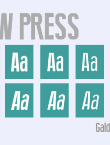 New Press Eroded Font Family
