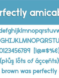 perfectly amicable Font
