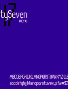 FortySeven Micro NBP Font Family