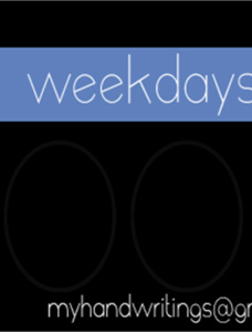 poor weekdays Font Family