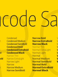 Encode Sans Compressed Font Family