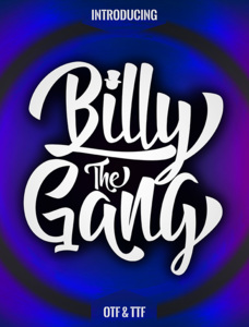Billy The Gang Font Family