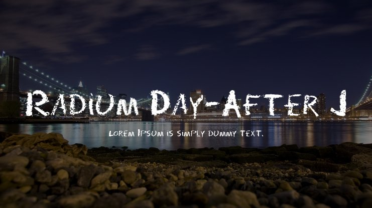 Radium Day-After J Font