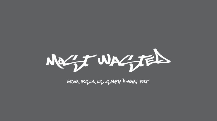 Most Wasted font