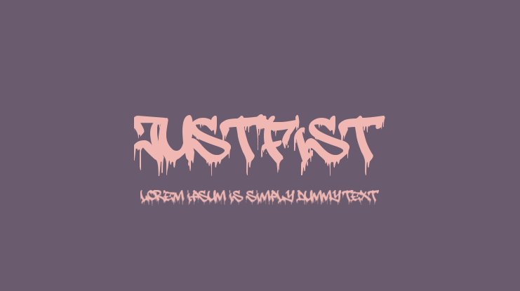 JustFist Font Family