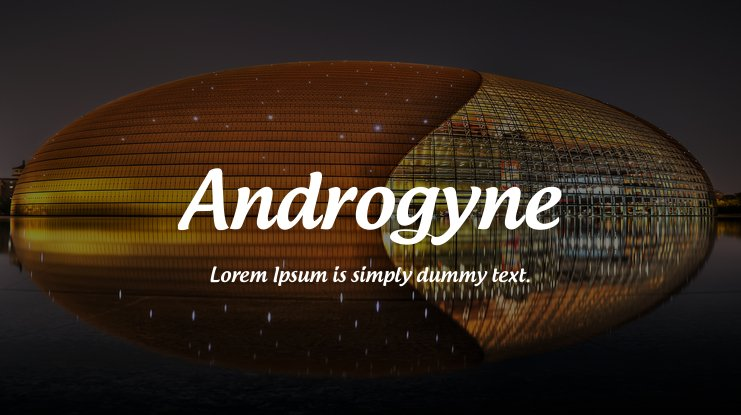 Androgyne font