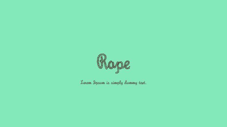 Rope Font