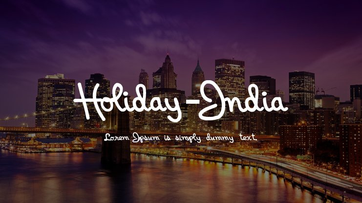 Holiday-India Font