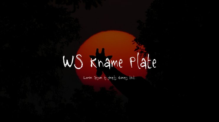 WS Kname Plate Font