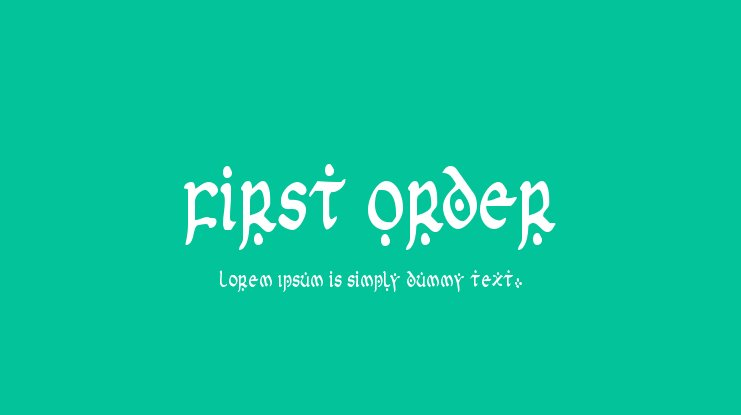 First Order Font Family