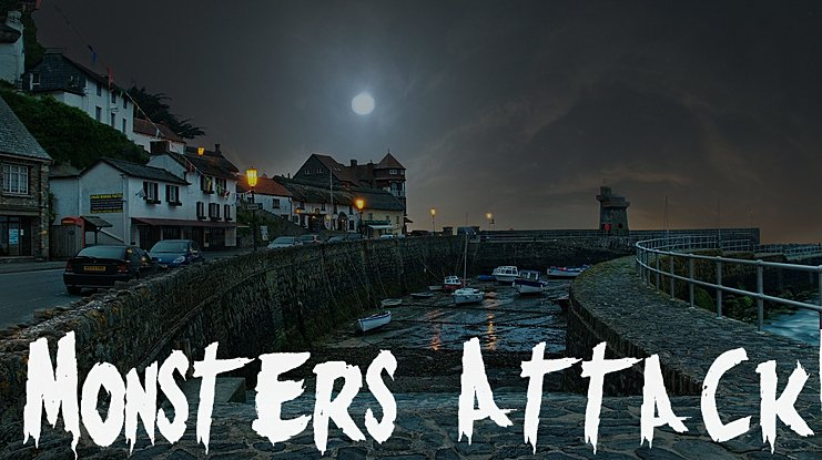 Monsters Attack ! Font