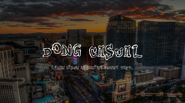 Dong Casual Font