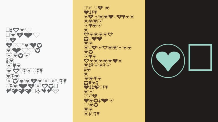 Hearts for 3D FX Font