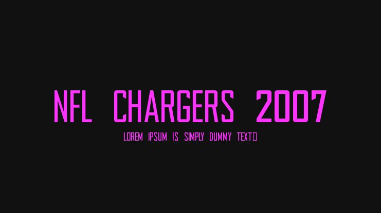 NFL Chargers 2007 Font