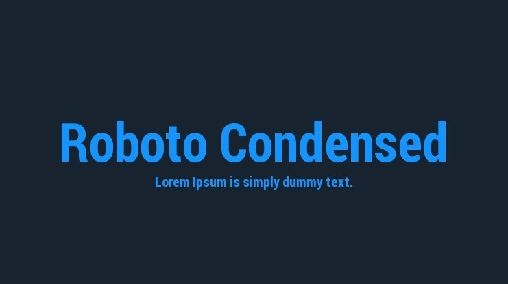 Roboto Condensed Font Family