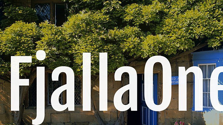 FjallaOne Font
