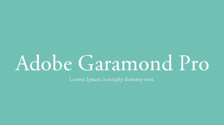 Adobe Garamond Pro Font Family : Download Free for Desktop