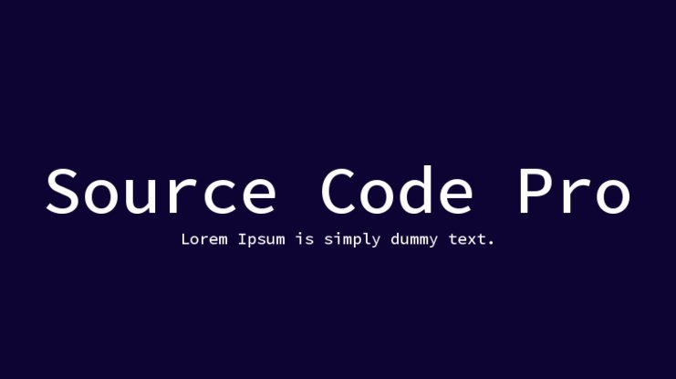 Source Code Pro Font Family