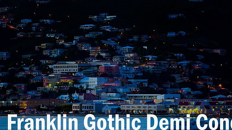 Franklin Gothic Demi Cond Font
