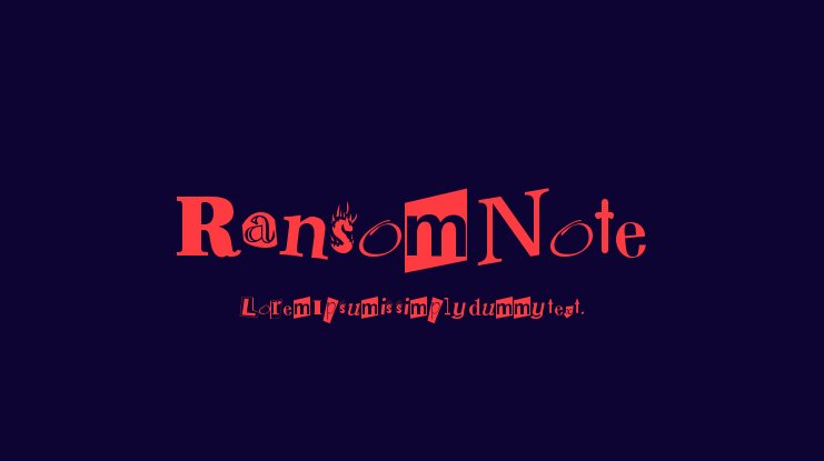 Ransom Note Font