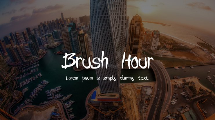 Brush Hour Font
