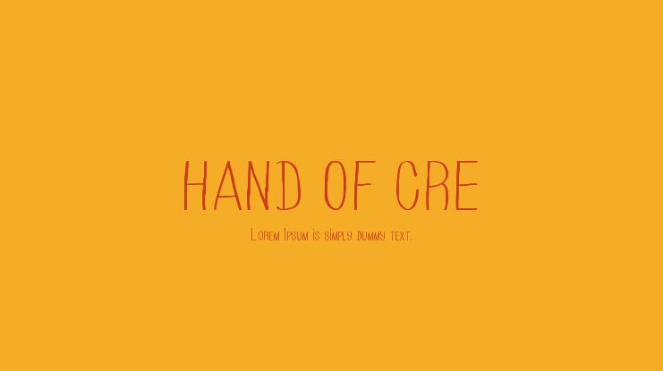 HAND OF CRE Font