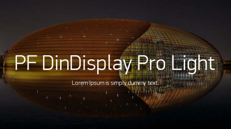 PF DinDisplay Pro Light Font Family