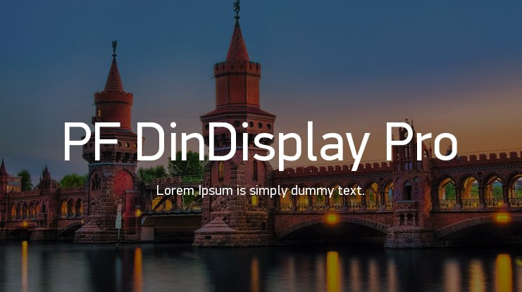 PF DinDisplay Pro Font Family