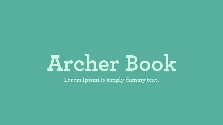 Archer Book Font Family