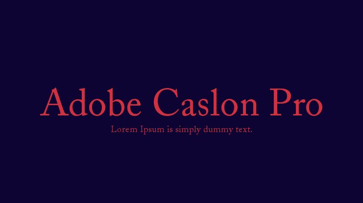 adobe caslon pro regular free download