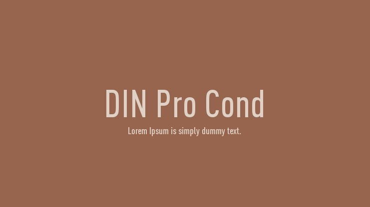 DIN Pro Cond Font Family