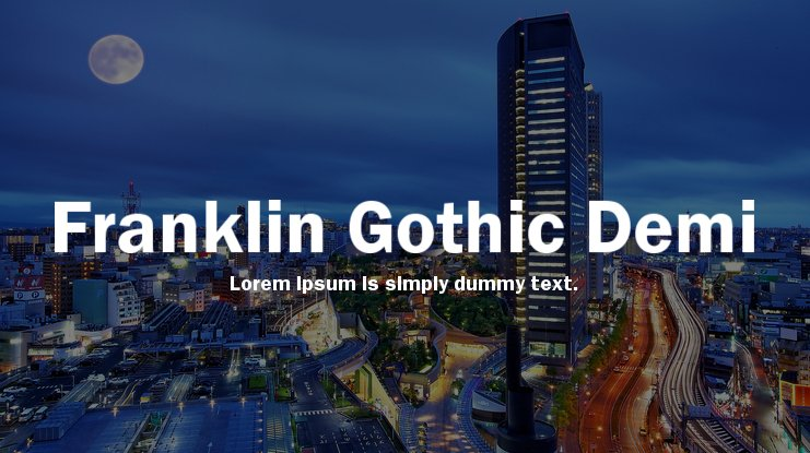 Franklin Gothic Demi Font Family