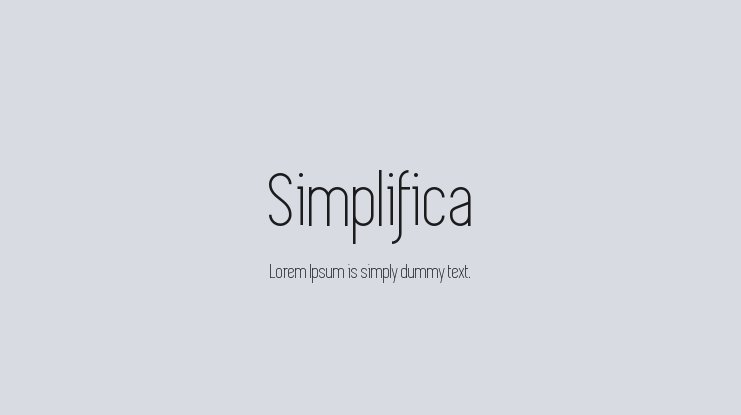 Simplifica Font : Download Free for Desktop & Webfont