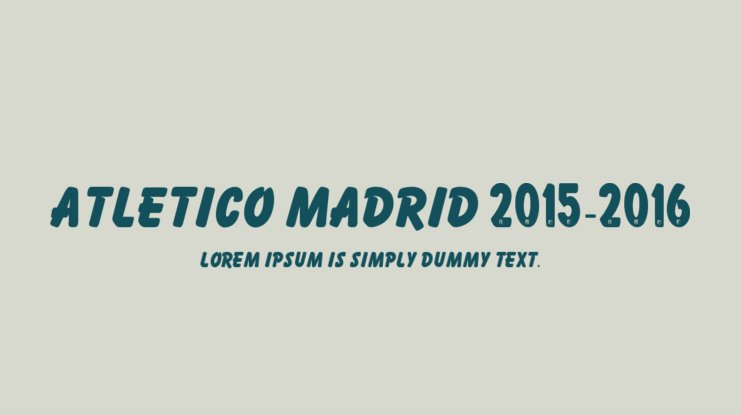 Atletico Madrid 2015-2016 Font