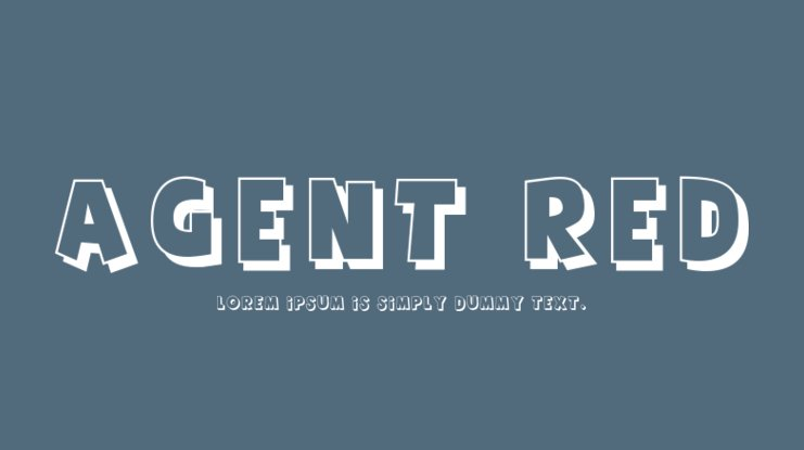 Agent Red Font